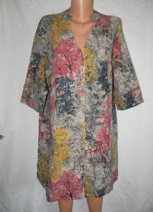 Натуральное новое платье рубашка на пуговицах zanzea