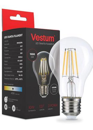 Светодиодная филаментная лампа Vestum А60 Е27 10Вт 220V 4100К ...