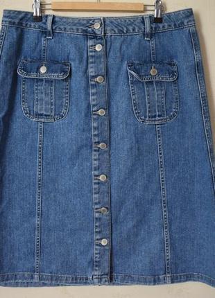 Стильная джинсовая юбка большого размера