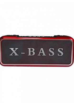Музыкальная Bluetooth колонка бумбокс Golon RX-200BT Красная