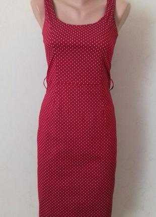 Новое платье по фигуре в горошек