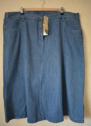 Новая джинсовая юбка большого размера