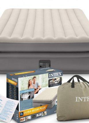 Надувная двуспальная кровать Intex 64164 со встроенным электро...