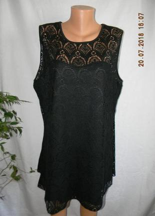 Кружевное платье туника большого размера
