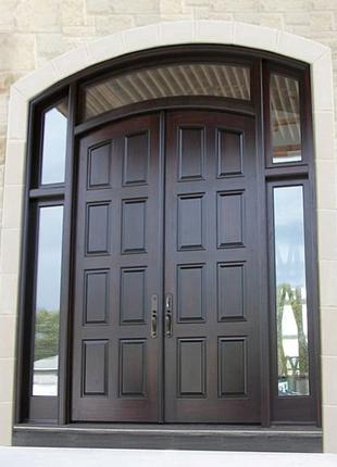 Виготовлення Елітних Вхідних Дверей з Мореного Дуба