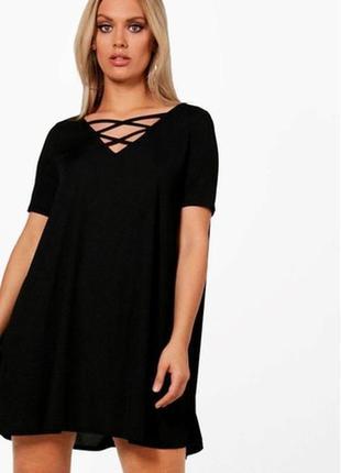 Трикотажное платье-туника большого размера