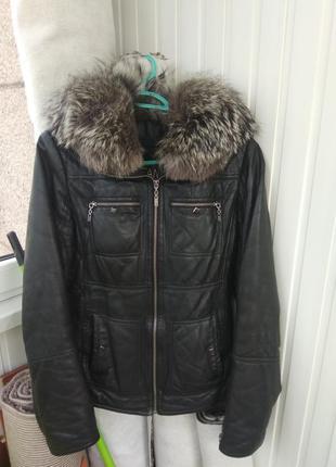 Кожаная куртка утепленая