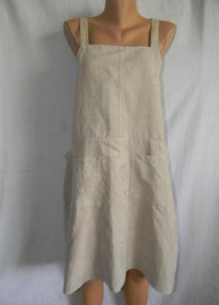 Платье сарафан под замш большого размера