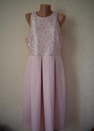 Красивое нежное платье с кружевным верхом asos