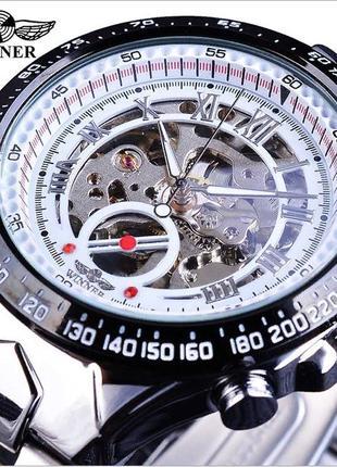 Мужские механические часы Winner ACTION Skeleton с Автоподзаводом