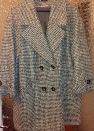 Модное пальто  полупальто с укороченым рукавом