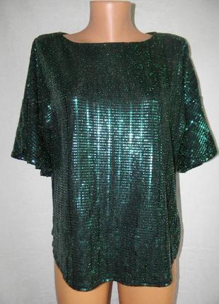 Нарядная блестящая блуза