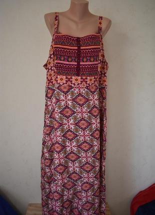 Платье сарафан натуральный большого размера