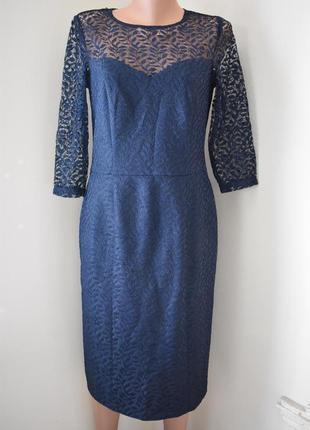 Платье с жаккардовым принтом и кружевным верхом