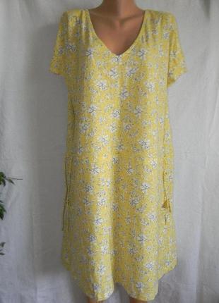 Натуральное летнее платье большого размера