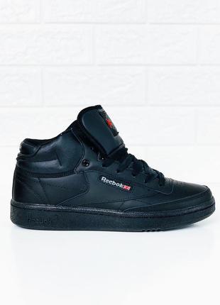 Reebok высокие ботинки черные рибок кроссовки зимние мужские