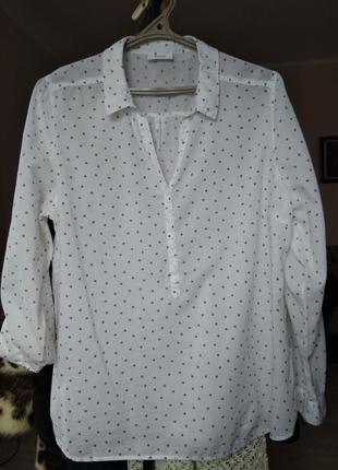 Батистовая блузка большого размера