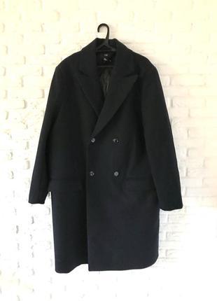 Шерстяное пальто большой размер 48