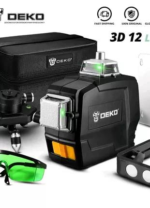 3D DEKO GREEN 12 линий 3D лазерный уровень Xeast Fukuda Bosch