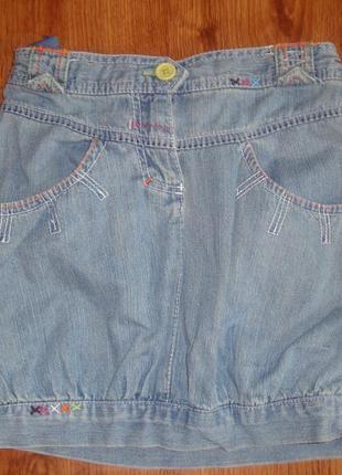 Джинсовая юбка  6-7 лет adams