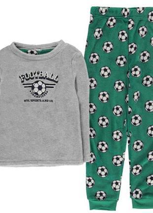 Пижама футбол пушистик флис 6-7