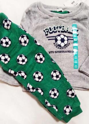 Пижама футбол пушистик флис 3-4