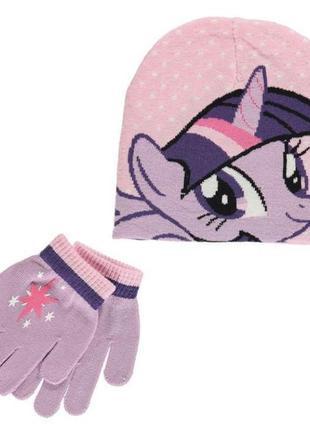 Шапка и перчатки пони my little pony hasbro