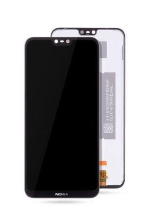 Дисплей Nokia 6.1 Plus/X6 2018 тачскрин модуль черный оригинал