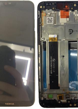 Дисплей Nokia 6.1 Plus/X6 2018 тачскрин модуль черный оригинал...