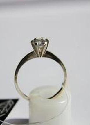 Серебро 925 циркон кольцо Италия