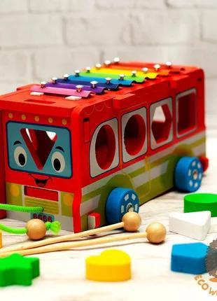 Деревянный автобус сортер
