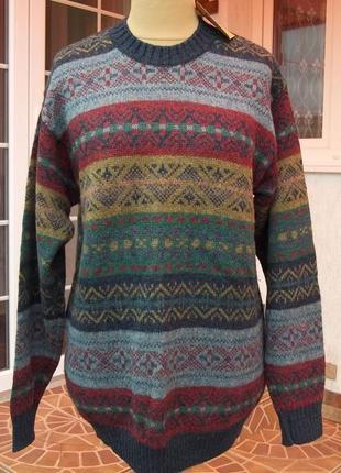 (50р) англия 100% шерсть свитер кофта джемпер пуловер мужской ...