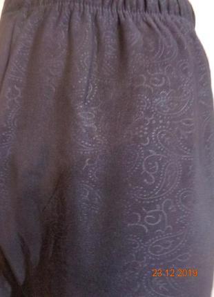 Черные брючные лосины на меху с разными узорами.  распродажа