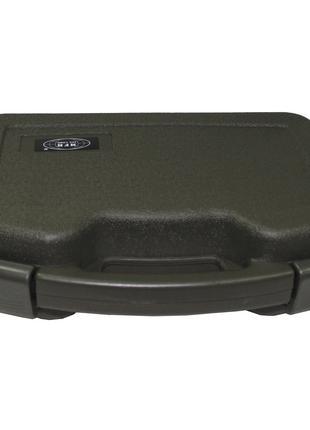 Кейс для пистолета пластиковый с застёжками большой тёмно-зелё...