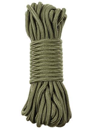 Веревка 9мм 15м MFH темно-зеленая (олива)