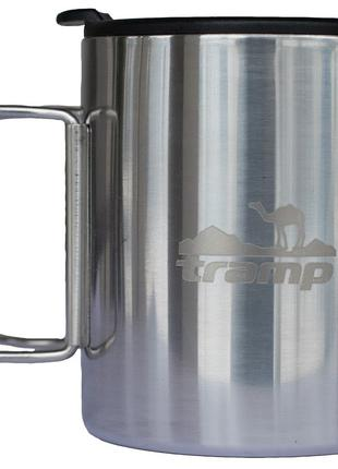 Термокружка 320мл со складными ручками и крышкой Tramp