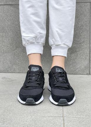 Маратон адидас кроссовки женские черные легкие текстиль