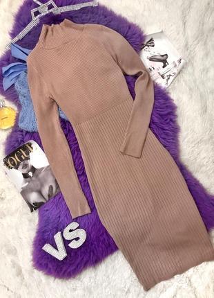 Теплое платье чулок размер м