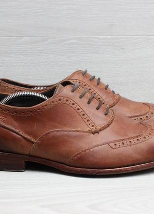 Кожаные мужские туфли броги clarks оригинал, размер 45