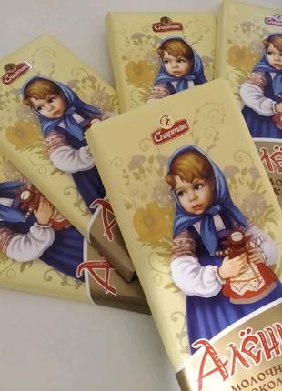 Белорусский шоколад Спортак. ,,Аленка,, молочный шоколад