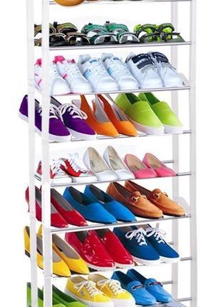 Полка Подставка для обуви и вещей органайзер на 10 полок 30 пар