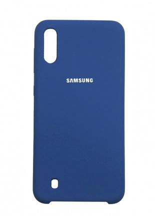 Накладка Original Silicone Case Samsung M10 blue