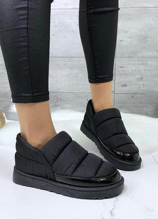 ❤ женские черные зимние угги дутики ботинки сапоги полусапожки...