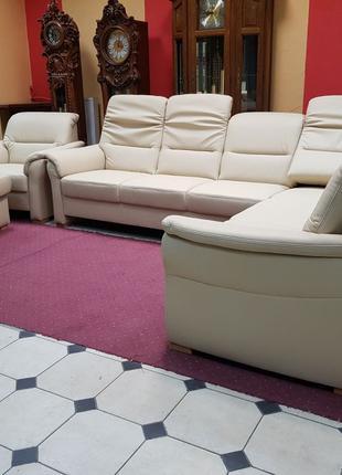 Новый кожаный угловой диван мягкая мебель диван Германия