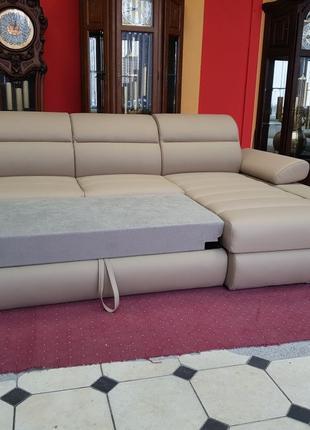 Новый кожаный угловой диван, кожаный диван кожаная мебель