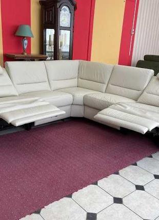 Кожаный модульный диван угловой диван шкіряний диван Германия