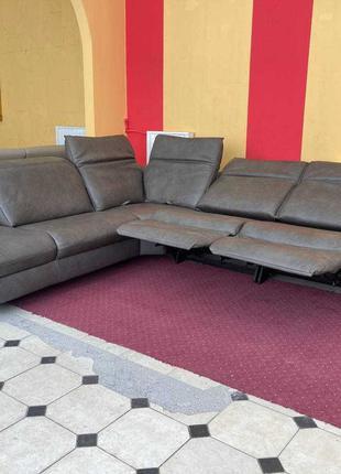 Новый фирменный Сом4lux кожаный угловой диван Relax