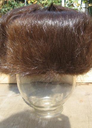Новая зимняя мужская шапка из меха нутрии 56 р