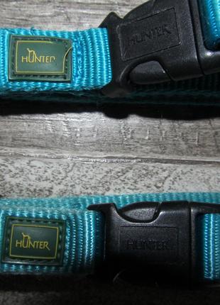 Ошейник для собак Hunter Vario Basic ALU-Strong нейлон  голубой