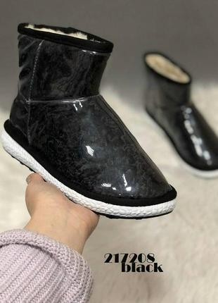 Угги силикон мех сапоги зимние ботинки